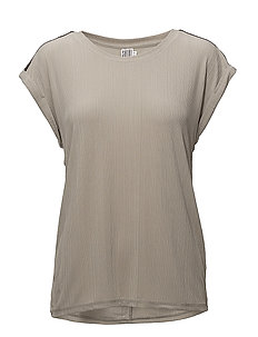 PLEATED JERSEY W.BEADS - P.GREY