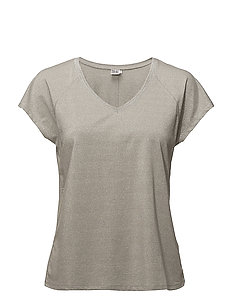 T-SHIRT W METALLIC STITCHING - C. GREY M
