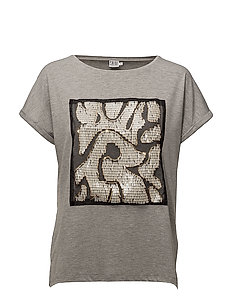 T-SHIRT W. SEQUINS - C. GREY M