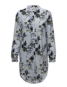 FLOWER P.TUNIC SHIRT - P.BLUE