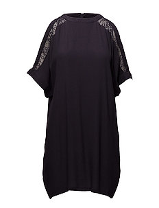 COLD SHOULDER TUNIC - BL DEEP