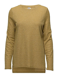 SHIMMER KNIT L/S BLOUSE - GOLDEN Y.