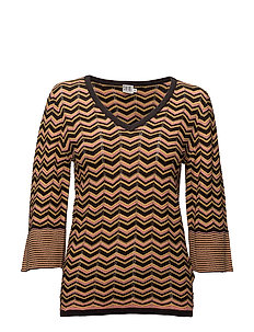 WAVE KNIT BLOUSE WITH SHINE - PHANTOM