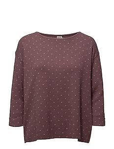 KNIT BLOUSE WITH DOTS - FLINT