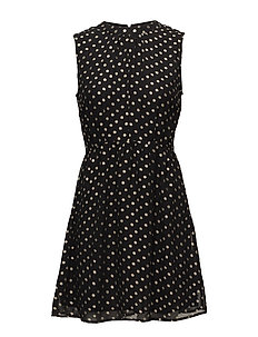 FOIL DOTTED DRESS - BLACK