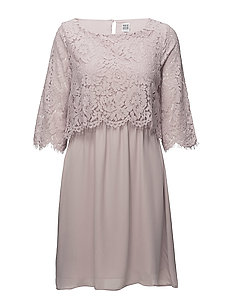 PARTY DRESS W LACE - B.LILAC