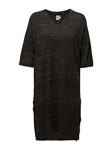 LONG  KNITTED DRESS - PHANTOM