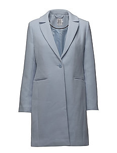 CLASSIC COAT W  POCKETS - P.BLUE