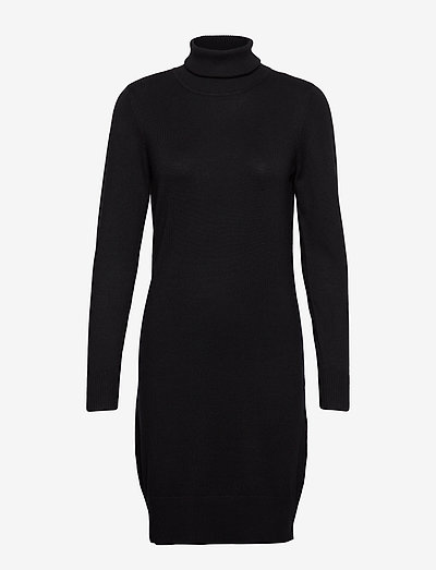 U6801, MilaSZ Rollneck Dress - robes moulantes - black
