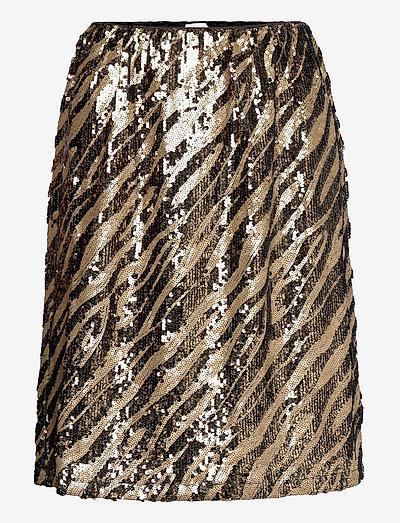 DeborSZ Skirt - kort skjørt - gold