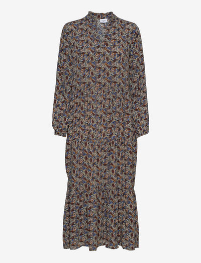 EdaSZ Maxi Dress - robes d'été - black branches patchwork