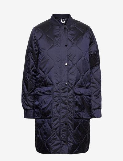 HazelSZ Long Jacket - vinterfrakker - blue deep