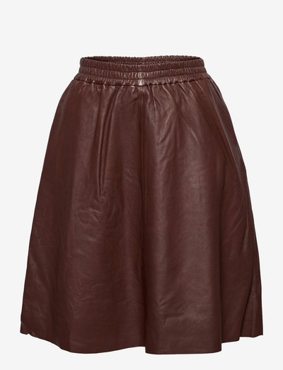 IbenSZ Skirt - midinederdele - cinnamon