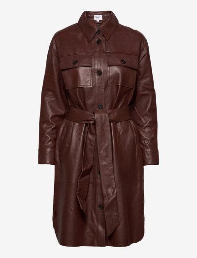 IbenSZ Dress - skjortekjoler - cinnamon