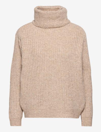 IvonnaSZ Pullover - rullekraver - creme melange