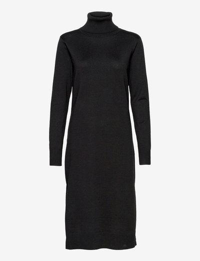 MilaSZ Roll Neck Long Dress - robes de jour - black