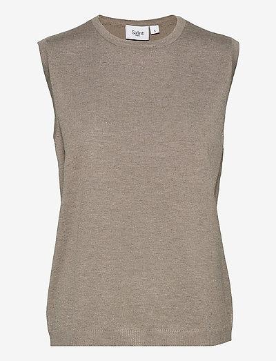 MilaSZ Vest - vestes tricot - atmos melange