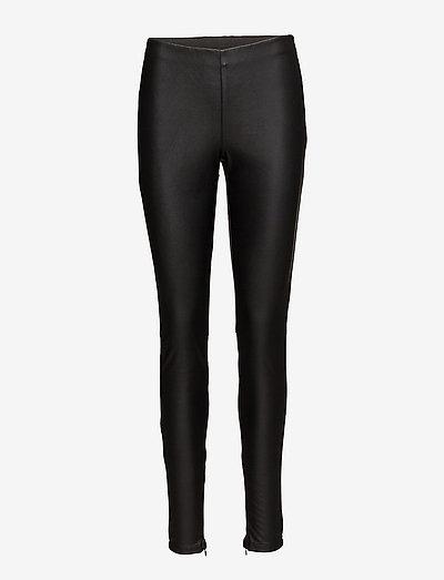 N5724, NataliaSZ Leggings - læderbukser - black