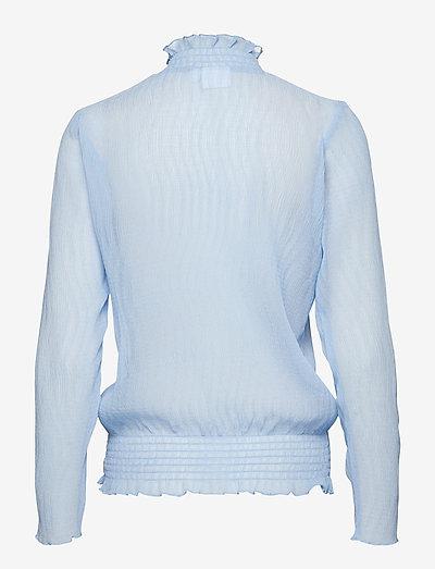 Saint Tropez Blouse W Flounce Detail- Bluzki & Koszule Pl.blue
