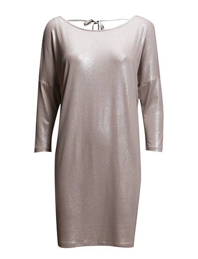 SHIMMER DRESS WITH TIE STRING - SILVER