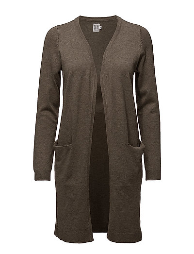 LONG CARDIGAN WITH POCKETS - FALCON M.