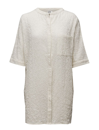 EMBROIDERY ANGLAISE TUNIC - ICE