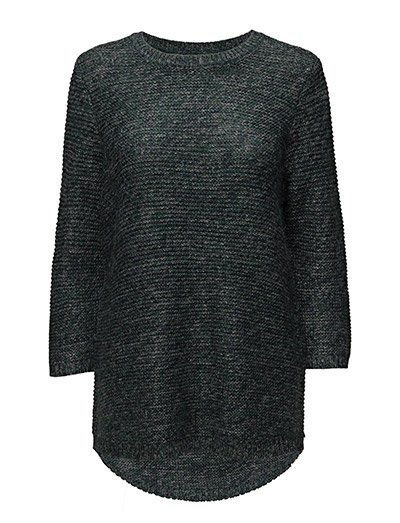 KNIT BLOUSE WITH STRIPED EFFEC - B.GREEN