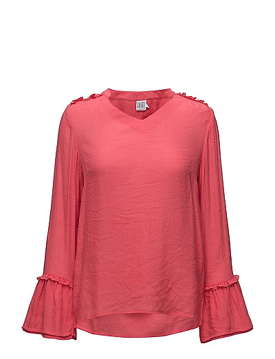 BLOUSE W WIDE SLEEVES OPENING - P.PINK
