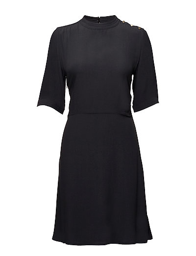 DRESS W.SHOULDER BUTTONS - BL DEEP