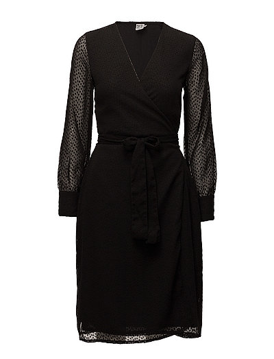 MAXI WRAP DRESS - BLACK