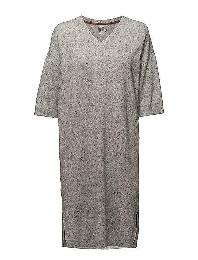 LONG  KNITTED DRESS - C. GREY M