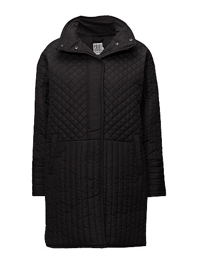 LONG QUILTED JACKET - BLACK