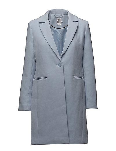 CLASSIC COAT W  POCKETS - P.BLUE