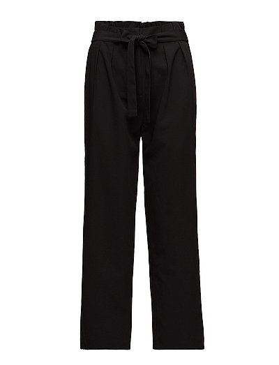 PANTS W BELT - BLACK