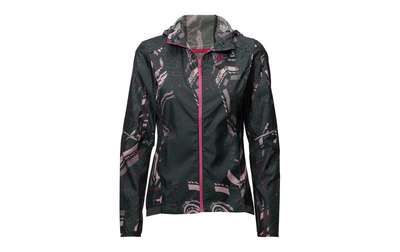 Spruce Mist darkest Urban Chic pink Wind Hoodie Salomon Agile Print Polyester 100 W qn8RFnw4