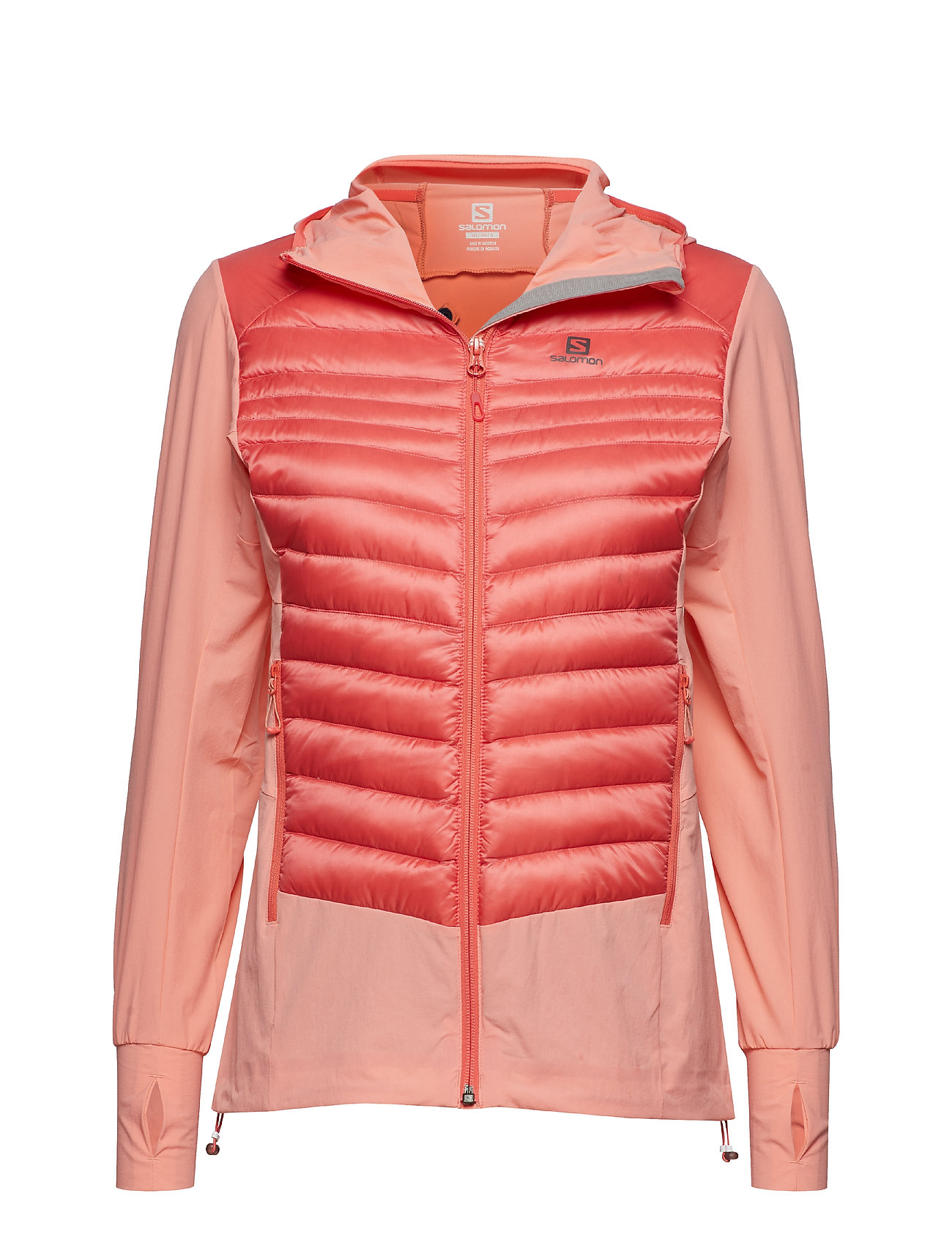 Salomon HALOES DOWN HYBRID HOODIE - DESERT FLOWER/DUBARRY