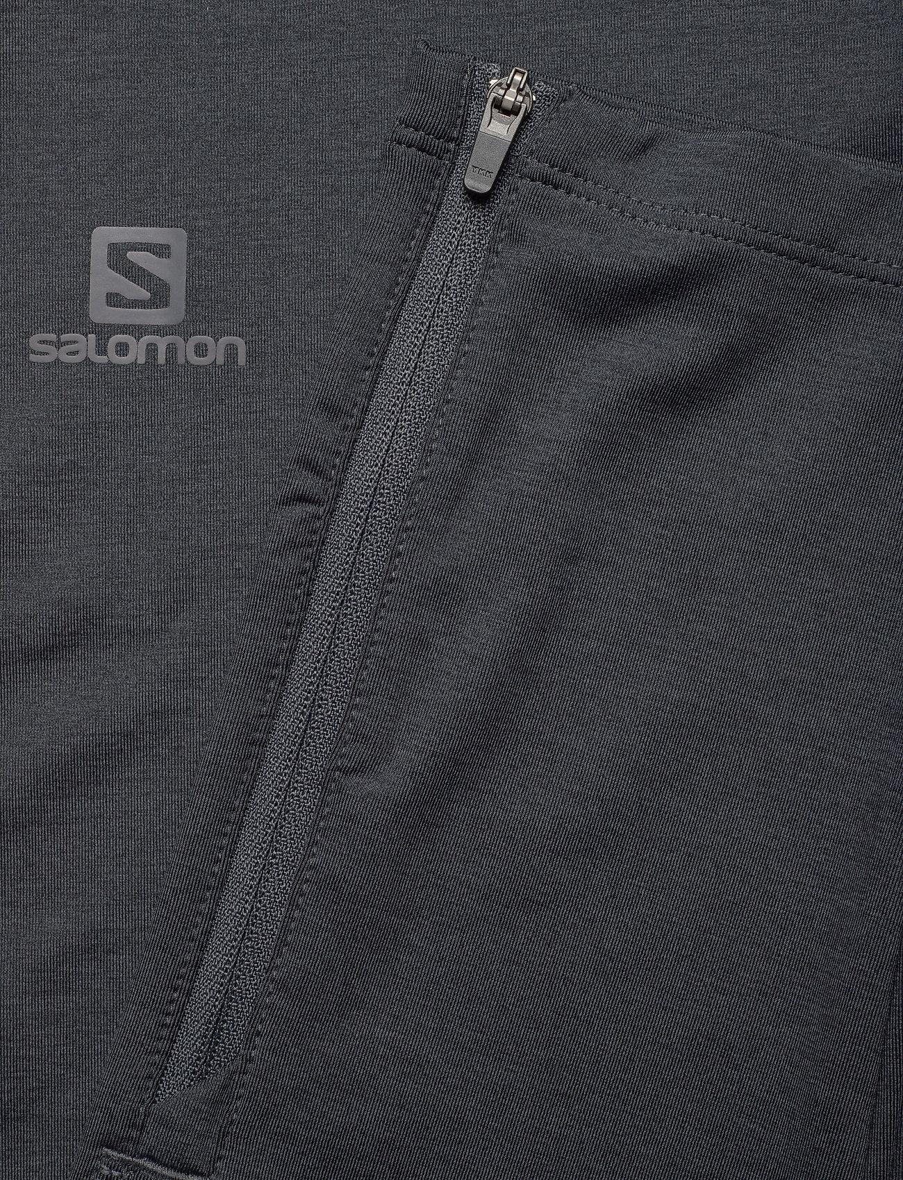 Salomon AGILE LONG TIGHT W - Leginsy BLACK/EBONY/HEATHER - Kobiety Odzież.