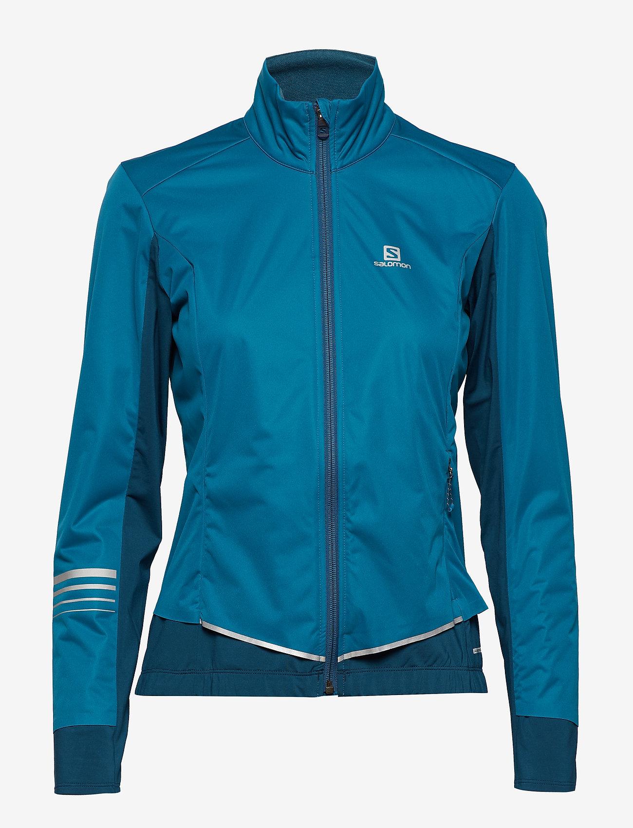 Salomon - LIGHTNING LIGHTSHELL JKT W - sports jackets - deep lagoon