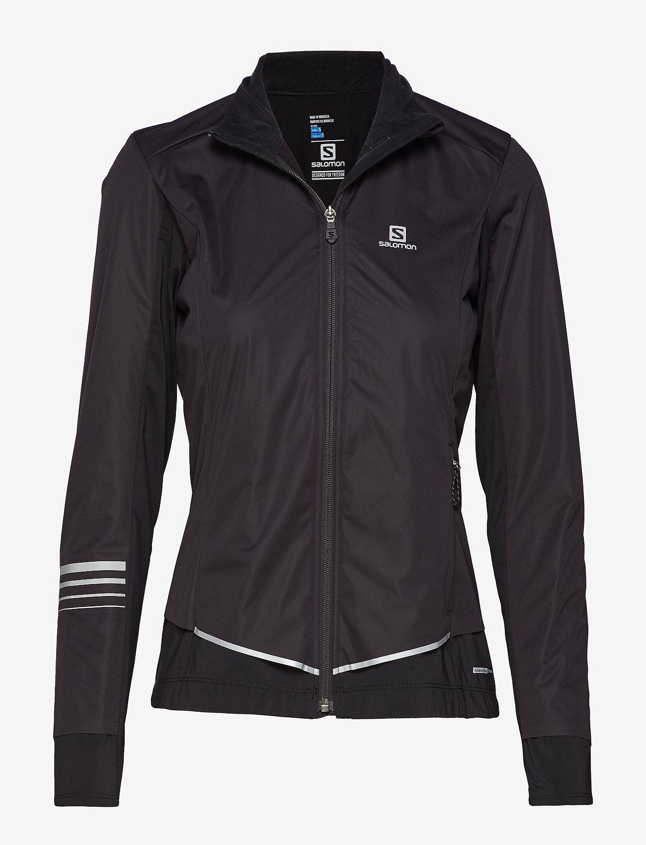 Salomon - LIGHTNING LIGHTSHELL JKT W - sports jackets - black