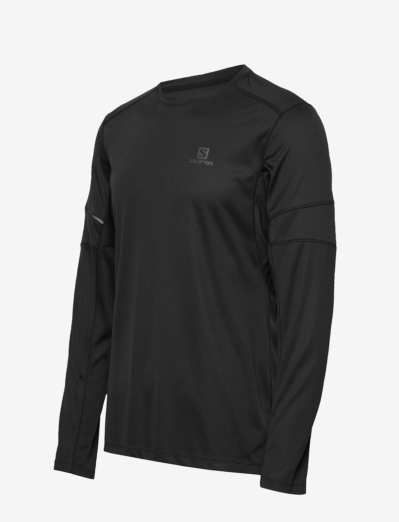 Salomon AGILE LS TEE M - T-skjorter BLACK - Menn Klær