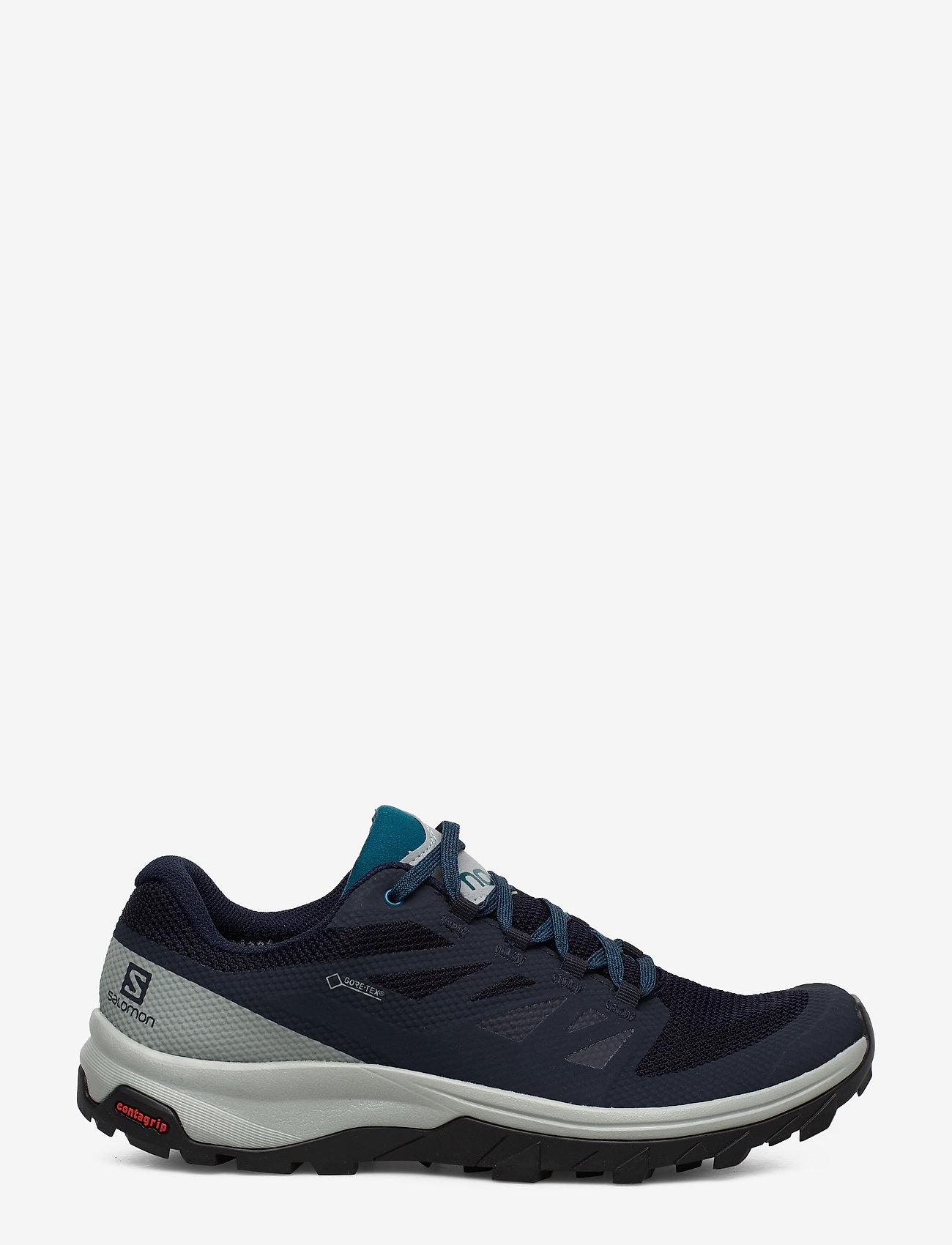 Shoes Outline Gtx (Navy Blazer/quarry/lyons Blue) - Salomon ELlkeZ