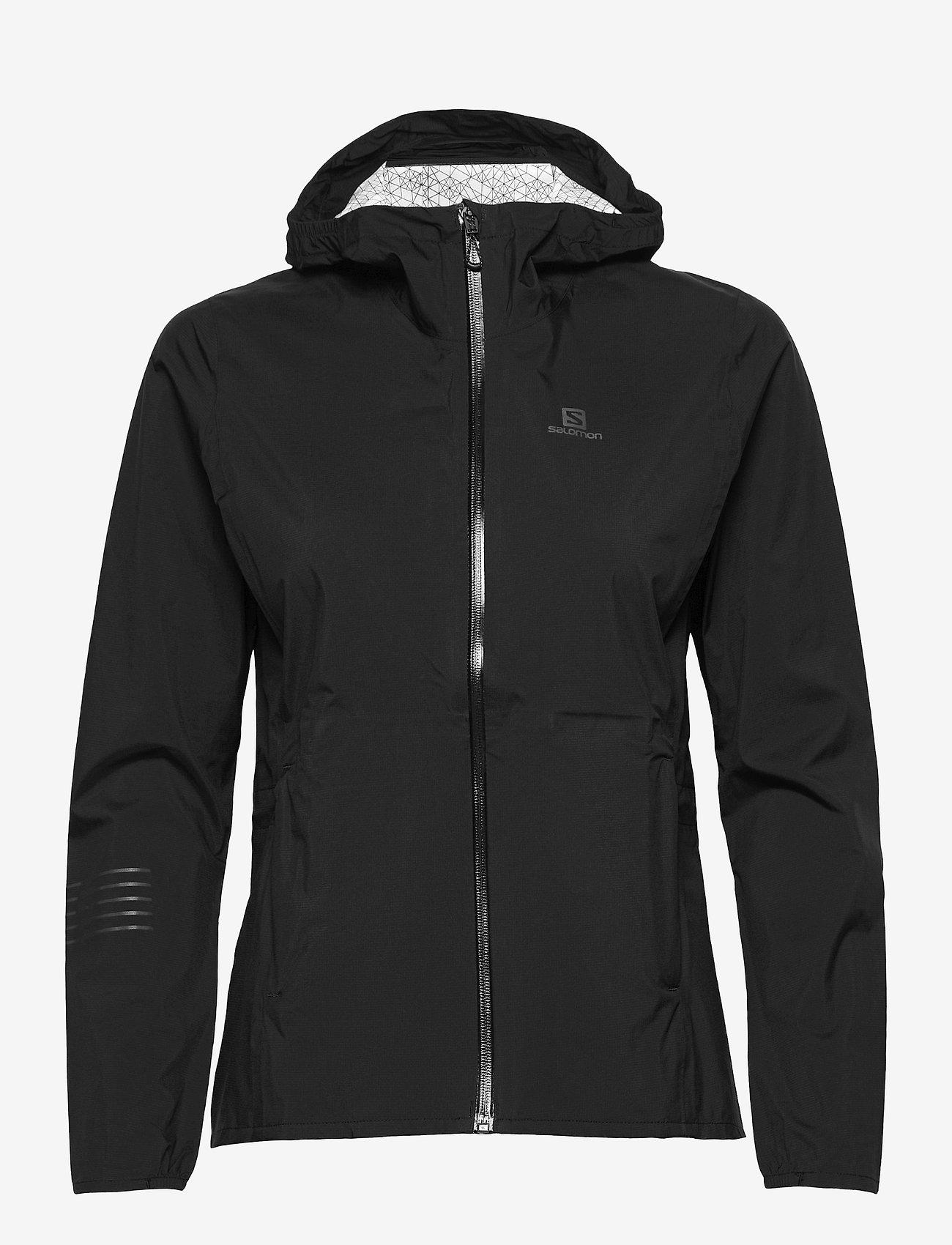 Salomon - LIGHTNING WP JKT W Black - training jackets - black - 0
