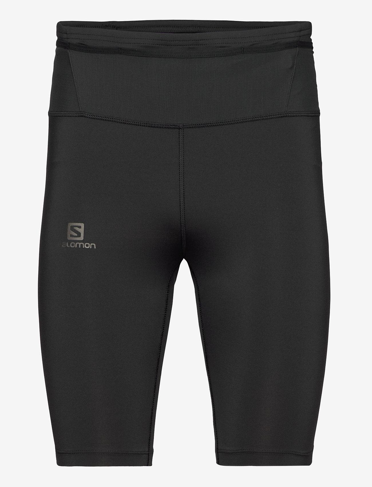 Salomon - XA HALF TIGHT M Black - løbe- og træningstights - black - 0