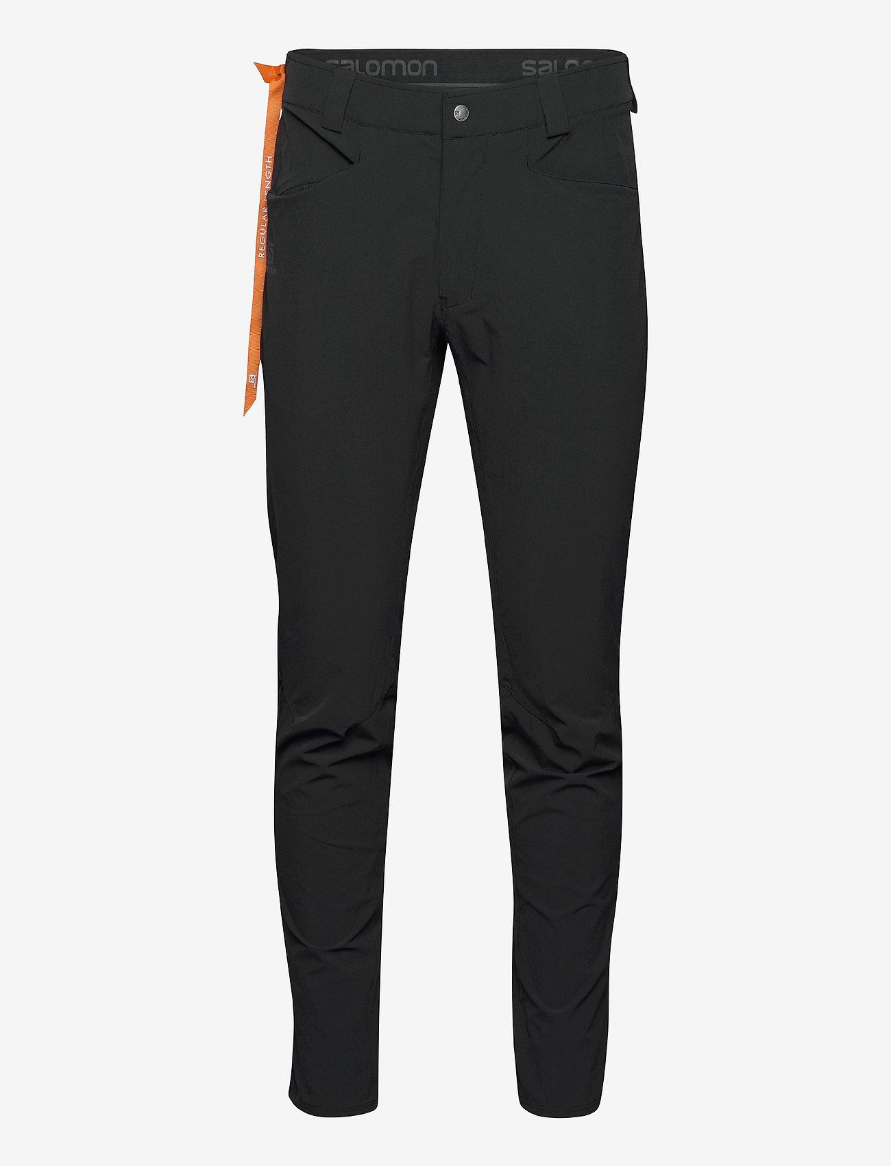 Salomon - WAYFARER TAPERED PANTS M Black - outdoorbukser - black - 0