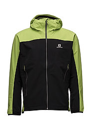 X ALP HYBRID JKT M - BLACK/LIME PUNCH.