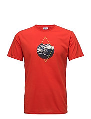 X ALP GRAPHIC SS TEE M - FIERY RED