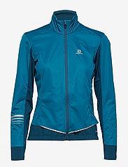 Salomon - LIGHTNING LIGHTSHELL JKT W - sports jackets - deep lagoon - 0