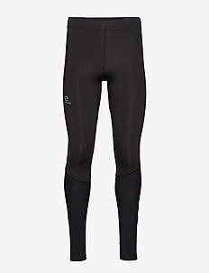 AGILE LONG TIGHT M Black - juoksu- & treenitrikoot - black