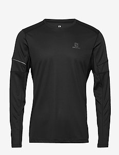 AGILE LS TEE M Black - base layer tops - black