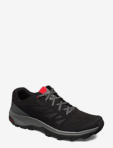 SHOES OUTline - wanderschuhe - black/quiet shade/high risk red